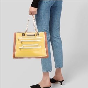 Jill chainlink yellow tote bag